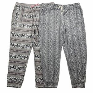 Jane And Bleecker Lot of 2 Pajama Jogger Pants XL